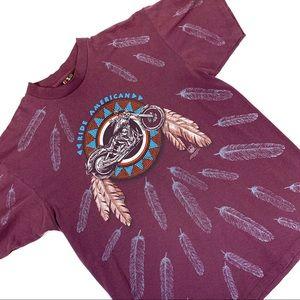 90s Vintage 3D Emblem Ride American T-Shirt